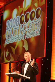 Rory Bremner presenting the awards
